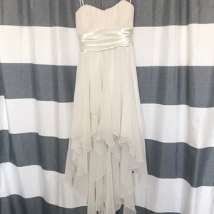 White Flowy Short/Long Windsor Gown